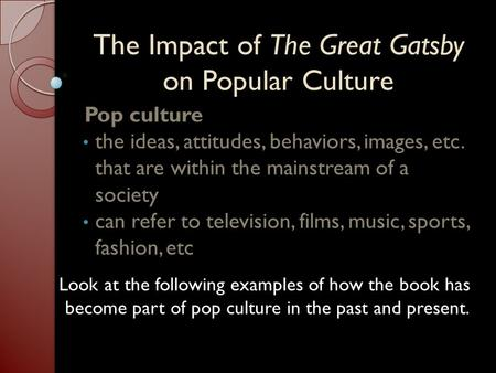the effects of advertising in popular culture Jacqueline waugh - does advertising shape or reflect popular culture uploaded by salar freeman download with google download with facebook or download with email.