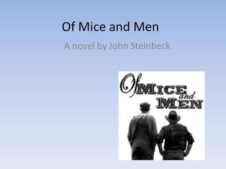 Of mice and men essays american dream