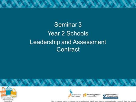 Seminar 3 Year 2 Schools Leadership and Assessment Contract.