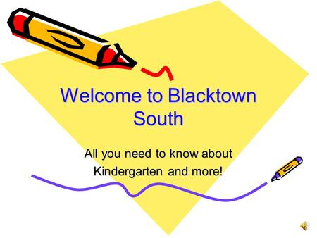 Welcome to Blacktown South All you need to know about Kindergarten and more!