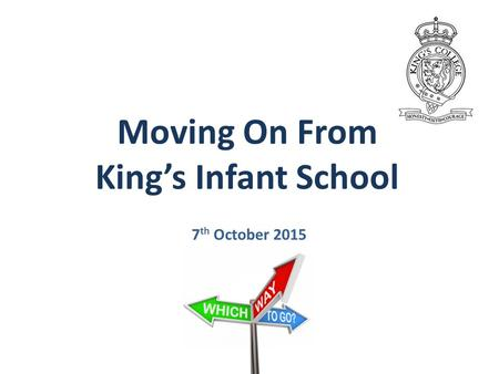 Moving On From King's Infant School