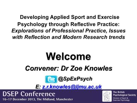 Developing Applied Sport and Exercise Psychology through Reflective Practice: Explorations of Professional Practice, Issues with Reflection and Modern.