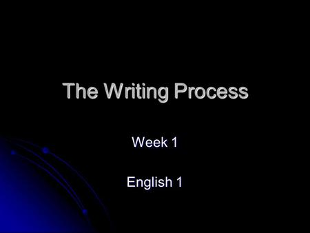 The Writing Process Week 1 English 1. Daily Language Practice Date: _8-27-08_______ 1. we must worked together in order to ensure a safe a secure community.