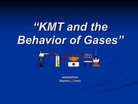 """KMT and the Behavior of Gases"" adapted from Stephen L. Cotton."