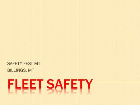 SAFETY FEST MT BILLINGS, MT.  WHO AM I???  CLASS TIME LIMIT  RESTROOMS  CELL PHONES OR DISTRACTIONS  WHO ARE YOU??? – Business card exchange.
