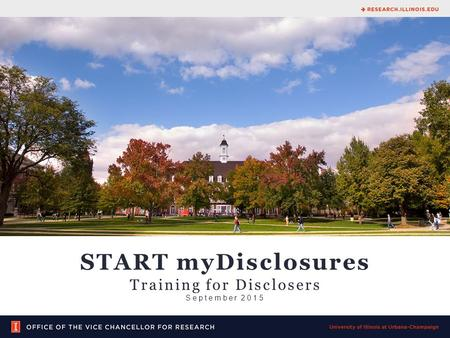 START myDisclosures Training for Disclosers September 2015.