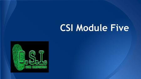 CSI Module Five. Transportation of Evidence Evidence that is collected from the crime scene is of utmost importance before releasing the crime scene to.