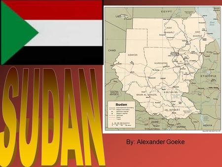 By: Alexander Goeke. Sudan's capital is khartoum Khartoums population is 2,207,794 people It is the largest city in Sudan Khartoum doesn't have many exotic.