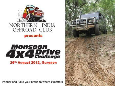 Presents 26 th August 2012, Gurgaon Partner and take your brand to where it matters.
