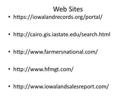 Web Sites https://iowalandrecords.org/portal/