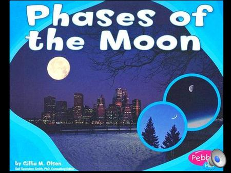 The Moon's Shape The Moon seems to change shape. It doesn't. The change is how much of the Moon you can see.