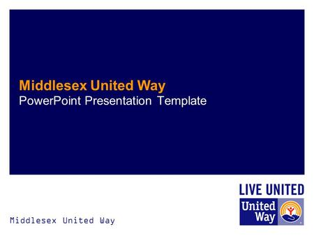 Middlesex United Way PowerPoint Presentation Template.
