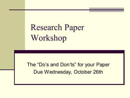 dos and donts of research papers This post provides some important tips researchers should bear in mind while  writing engineering papers.