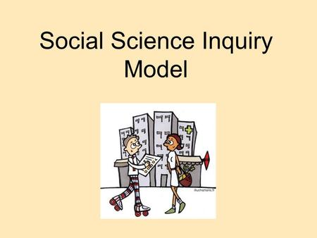 Social Science Inquiry Model. Scientific inquiry has 5 steps Identify a problem Develop a hypothesis Gather data Analyze the data Draw conclusions.