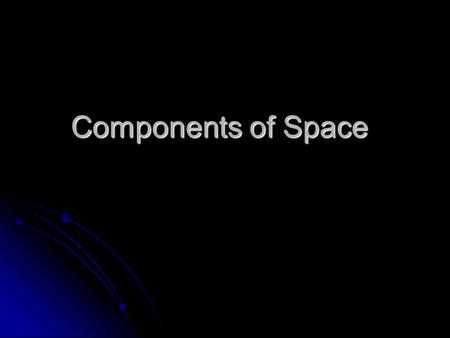 Components of Space. Universe All of space that includes many galaxies All of space that includes many galaxies.