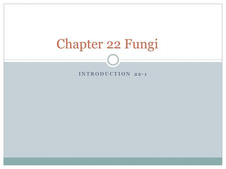 INTRODUCTION 22-1 Chapter 22 Fungi. Fungi Some of the most unusual and peculiar organisms on earth are members of the Kingdom Fungi.