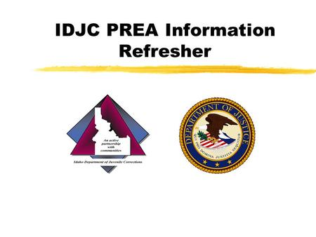IDJC PREA Information Refresher. What PREA Does zThe Act supports the prevention, detection, reduction and punishment of sexual assault and rape within.