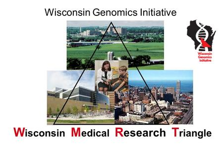 Wisconsin Genomics Initiative W isconsin M edical R esearch T riangle Wisconsin Medical Discovery Triangle.