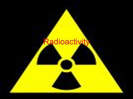 Radioactivity. Radiation When you see or hear this word what do you think about? What do you think it means? Share your thoughts with me by writing on.