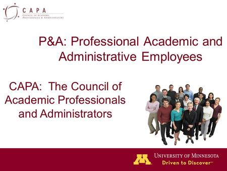 P&A: Professional Academic and Administrative Employees