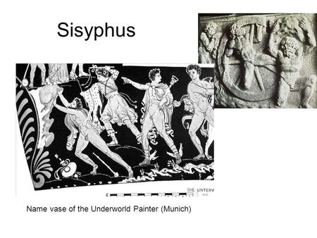 Sisyphus Name vase of the Underworld Painter (Munich)