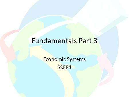 Fundamentals Part 3 Economic Systems SSEF4. Three Basic Economic Questions What to produce? How to Produce? For Whom to produce? Let's take a closer loos.