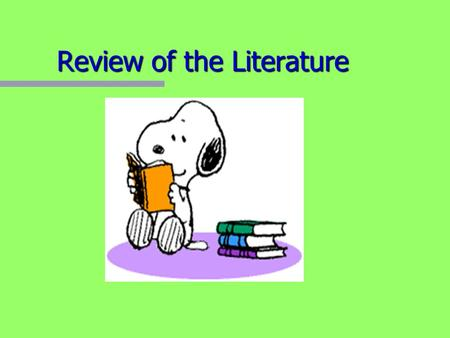 should a literature review be in chronological order