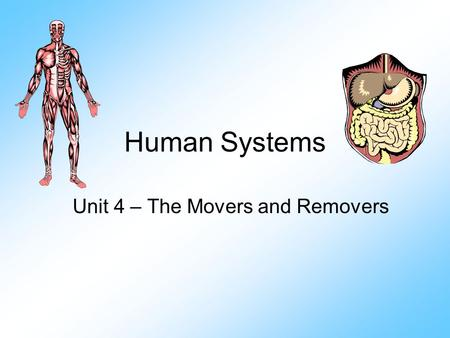 Human Systems Unit 4 – The Movers and Removers. Language Learning Goal Define: Circulatory system Blood vessel Artery Vein Capillaries Lymph & Lymphatic.