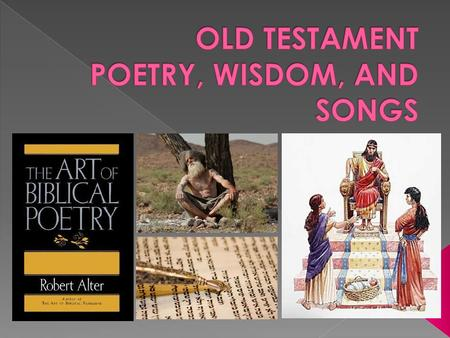 - We have five books in this genre: -Job, Psalms, Proverbs, Ecclesiastes, and Song of Solomon -This genre is actually a mix of poetry, songs, proverbs,