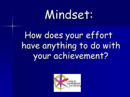 Mindset: How does your effort have anything to do with your achievement?
