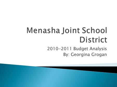 2010-2011 Budget Analysis By: Georgina Grogan.  Located south of Appleton  5 elementary schools  1 middle school  1 H.S.