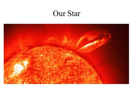 Our Star. A Closer Look at the Sun Our goals for learning Why was the Sun's energy source a major mystery? Why does the Sun shine? What is the Sun's structure?