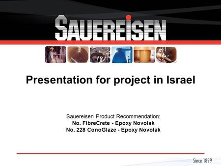 Presentation for project in Israel