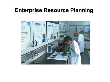 Enterprise Resource Planning. Enterprise Resource Planning Systems is a computer system that integrates application programs in accounting, sales, manufacturing,