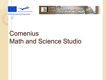 Comenius Math and Science Studio. Funny math How is it possible?