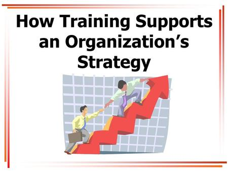 How Training Supports an Organization's Strategy.