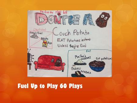 Fuel Up to Play 60 Plays. Fuel Up To Play 60 & I Classroom teacher 9 years Needed funding Started off small 1 st year 12 students 2 nd year 17 students.