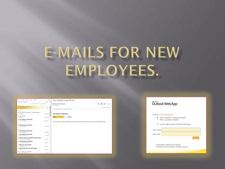  When you receive a new email you will be shown a highlighted in yellow <strong>box</strong> where your email can be found  To open your new email just double click.