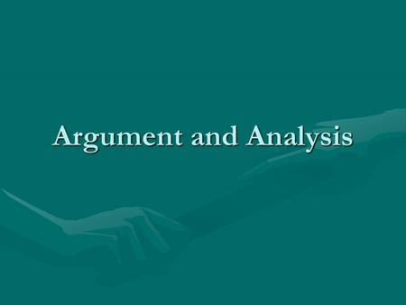 Argument and Analysis. Parallelism In grammar, parallelism is a balance of two or more similar words, phrases, or clauses.In grammar, parallelism is a.