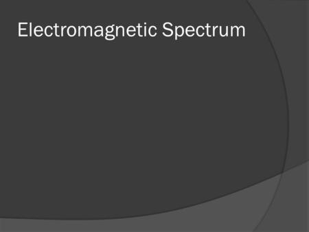 Electromagnetic Spectrum. Different Types of Light  Light is a form of energy  It travels in waves  Also called Electromagnetic Radiation  Some Electromagnetic.
