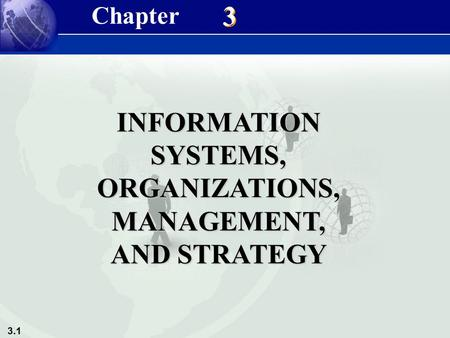 3.1 3 3 INFORMATION SYSTEMS, ORGANIZATIONS, MANAGEMENT, AND STRATEGY Chapter.
