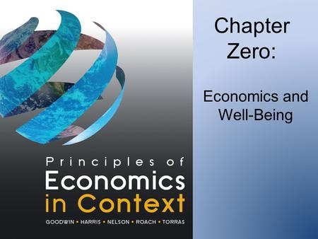 Chapter Zero: Economics and Well-Being. 1. U.S. GDP per capita.