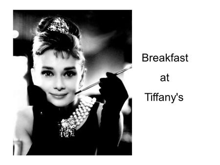 Breakfast at Tiffany's. The novel Breakfast at Tiffany's is written in 1958, and then, it is adapted into a movie in 1961. Although it is an old film,