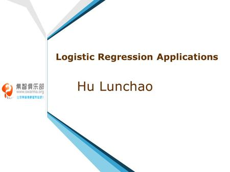 Logistic Regression Applications Hu Lunchao. 2 Contents 1 1 What Is Logistic Regression? 2 2 Modeling Categorical Responses 3 3 Modeling Ordinal Variables.
