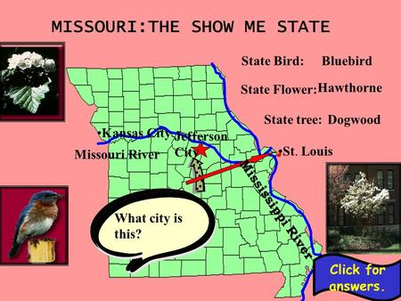 MISSOURI:THE SHOW ME STATE