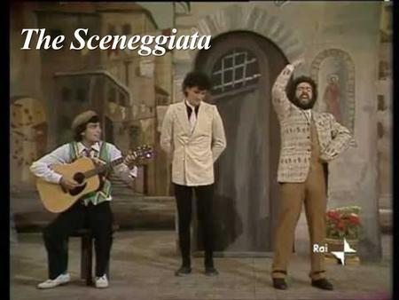The Sceneggiata. The story: It developed between 1920 and 1940.