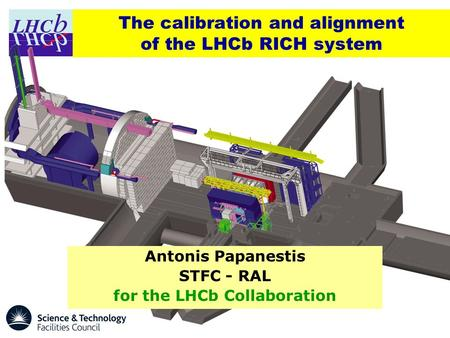 The calibration and alignment of the LHCb RICH system Antonis Papanestis STFC - RAL for the LHCb Collaboration.