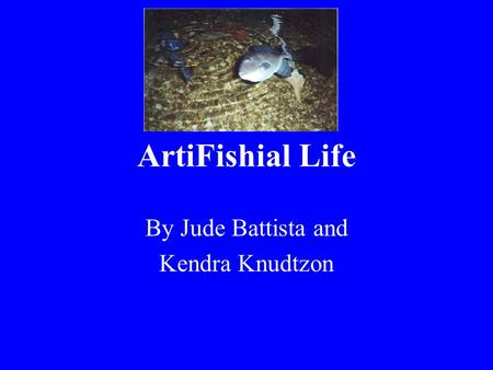 ArtiFishial Life By Jude Battista and Kendra Knudtzon.