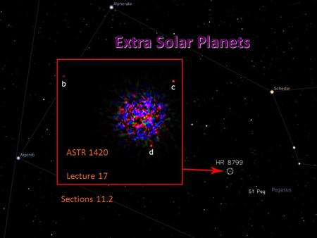 Extra Solar Planets ASTR 1420 Lecture 17 Sections 11.2.