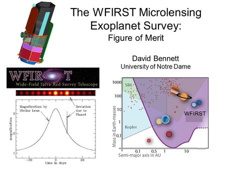 The WFIRST Microlensing Exoplanet Survey: Figure of Merit David Bennett University of Notre Dame WFIRST.